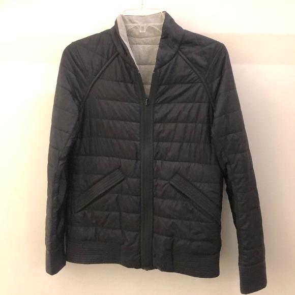 lululemon athletica Jackets & Blazers - Lululemon black/gray reversible jacket sz 4 68468
